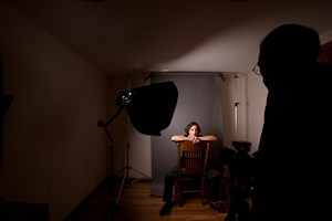 softbox on left, no reflector