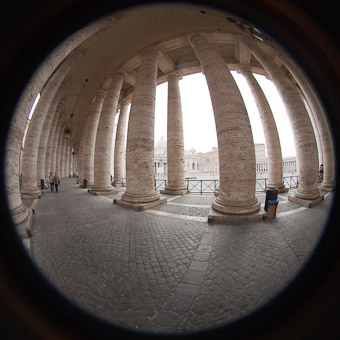 vatican with fisheye