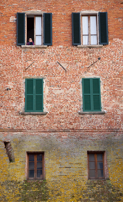 window wall in Italy, color